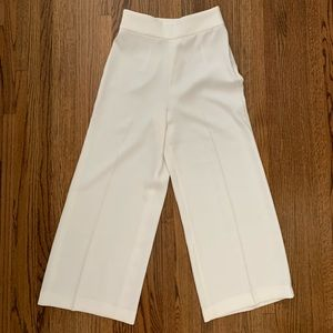 Wide leg cream Zara Woman trousers pants new sz xs
